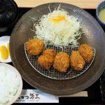 高知県高知市朝倉、とんかつ源三は高知ではめずらしい行列のできる店